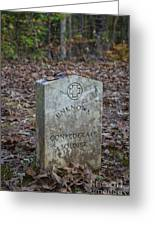 Unknown Confederate Soldier - Natchez Trace Greeting Card