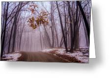 Unknown Road Greeting Card