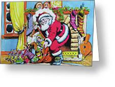 Unloading The Toys Greeting Card