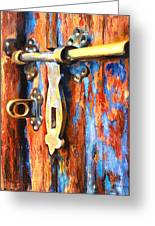 Unlocked Greeting Card by Denise H Cooperman