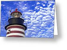Unmistakable In Any Weather - West Quoddy Head Lighthouse Greeting Card