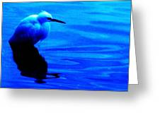 Unseen Chain Of Egret Greeting Card