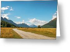 Unspoiled Alpine Scenery From Kinloch-glenorchy Road, Nz Greeting Card