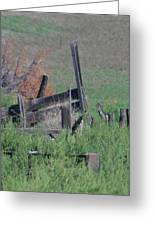 Untended Fences Greeting Card