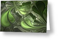 Untitled 1-26-10 Pale Green Greeting Card