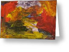 Untitled 113 Original Painting Greeting Card