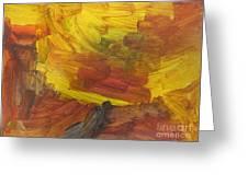 Untitled 117 Original Painting Greeting Card