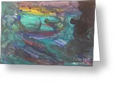 Untitled 118 Original Painting Greeting Card