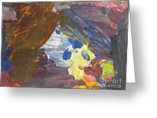 Untitled 139 Original Painting Greeting Card