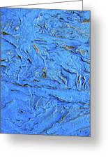 Untitled-weathered Wood Design In Blue Greeting Card