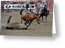 Bronco Rider Four Greeting Card
