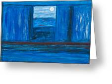 Untitled In Blue Greeting Card by Celesty  Claudio