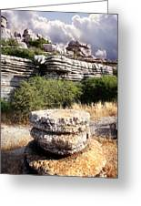 Unusual Rock Formations In The El Torcal Mountains Near Antequera Spain Greeting Card