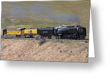 Up 844 Steams Over The Altamont Pass  Greeting Card