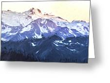 Up In The Mountains II Greeting Card