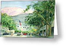 Up Linden Avenue Greeting Card