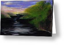 Up River Greeting Card