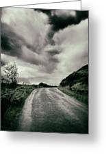 Up That Hill - Dark Greeting Card