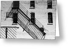 Up The Fire Escape Abstract Greeting Card