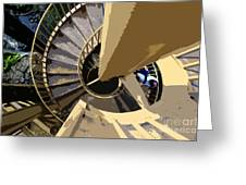 Up The Spiral Staircase Greeting Card