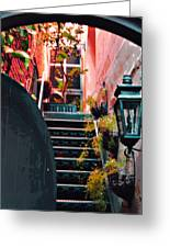 Up The Stairs On The Left Greeting Card by Jill Tennison