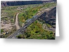 Up Tracks Cross The Mojave River Greeting Card by Jim Thompson