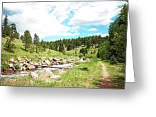 Upcreek  Greeting Card