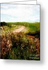 Uphill Curve Greeting Card