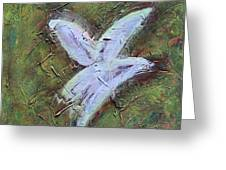 Upon Angels Wings Of Change Greeting Card
