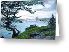 Upon Seeing The Golden Gate Greeting Card