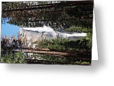 Upper And Lower Yosemite Falls Greeting Card