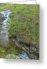 Upper And Middle Falls At Mine Kill State Park Greeting Card