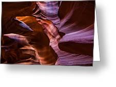 Upper Antelope Canyon Greeting Card