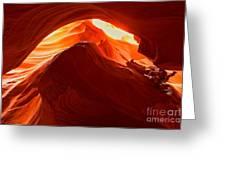 Upper Antelope Sunlit Layers Greeting Card