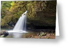 Upper Butte Creek Falls Closeup Greeting Card