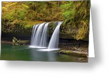 Upper Butte Creek Falls In Autumn Greeting Card