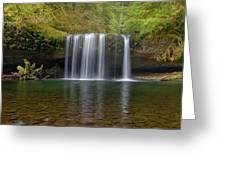 Upper Butte Creek Falls In Fall Season Greeting Card
