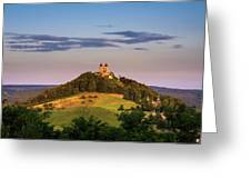 Upper Church With Two Towers In Banska Stiavnica, Slovakia Greeting Card