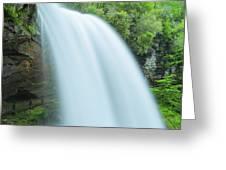 Upper Cullasaja Dry Falls In North Carolina Panorama Greeting Card by Ranjay Mitra