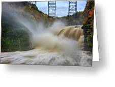 Upper Falls After A Storm Greeting Card