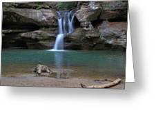 Upper Falls In Hocking Hills Greeting Card