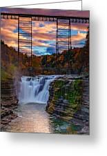 Upper Falls Letchworth State Park Greeting Card