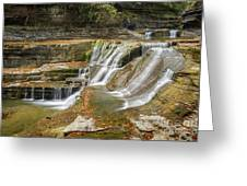 Upper Gorge Falls Of Enfield Glen In Treman State Park Greeting Card