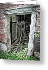 Upper Hoist Doorway Greeting Card