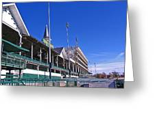 Upper Level Viewing Stands At Churchill Downs Greeting Card