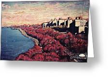 Upper Manhattan Along The Hudson River Greeting Card