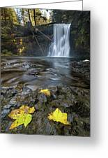 Upper North Falls In Autumn Greeting Card
