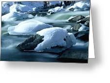 Upper Provo River In Winter Greeting Card