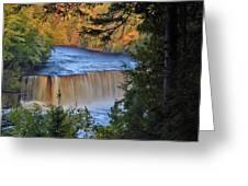 Upper Tahquamenon Falls In October Greeting Card