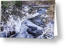 Upper Taughannock Winter Greeting Card